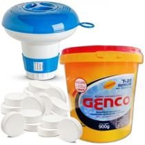 Kit Mini Clorador + 900gr Mini Pastilha de Cloro para Piscina  Nautilus -