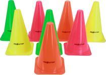 Kit Mini Cones Para Treino de Agilidade 15cm Com 8 Unidades Proaction G206 -