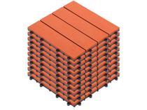 Kit Mini Deck de Polipropileno Frisado Caramelo - 30x30cm Massol DE2027 10 Peças