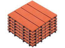 Kit Mini Deck de Polipropileno Frisado Caramelo - 30x30cm Massol DE2027 6 Peças