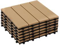 Kit Mini Deck de Polipropileno Frisado Cumaru  - 30x30cm Massol DE2992 6 Peças