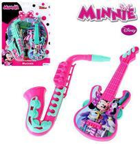 Kit mini instrumento musical infantil com 2 pecas minnie colors na cartela - Etitoys