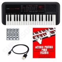 Kit Mini Teclado Controlador Yamaha PSS-A50 37 Mini Teclas + Método para Teclado + Pilhas -