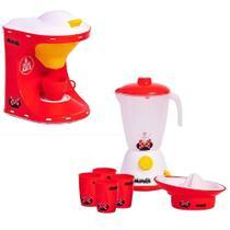 Kit Minnie Disney Cafeteira e Liquidificador Infantil - Angel Toys