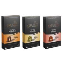 Kit Misto-30 cápsulas de Café Roccaporena-Cápsulas de Alumínio-Compatível com Nespresso -