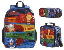 Kit Mochia G Costas Lancheira Estojo Avengers Animated 11588 - Dmw