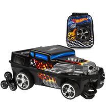 Kit Mochila 3D Infantil e Lancheira Hot Wheels Bone Shaker - Max toy