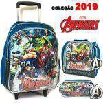 Kit mochila bolsa rodinha infantil escolar vingadores 2019 - Outras marcas
