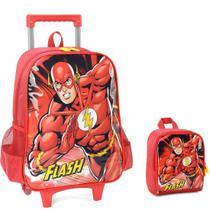 Kit Mochila com Rodinhas Flash com Lancheira - Dc Comics