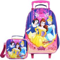 Kit Mochila de Rodinha Princesas Easy +Lancheira Termica Dmw -