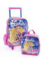 Kit Mochila de Rodinhas + Lacheira Barbie -