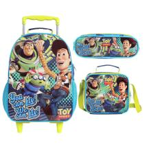 Kit Mochila de Rodinhas + Lancheira + Estojo Duplo Toy Story You Can Fly - Dermiwil
