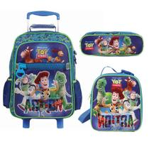 Kit Mochila de Rodinhas + Lancheira + Estojo Triplo Toy Story With Electrifying Action - Dermiwil