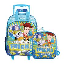 Kit Mochila de Rodinhas + Lancheira Toy Story Youve Got a Friend In Me - Dermiwil