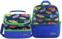 Kit Mochila escolar c/ lancheira dupla menino Sapeka carro - Jacki design