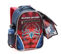 Kit Mochila Escolar Com Lancheira Estojo 15342 Super Spider - Seanite