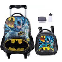 Kit Mochila Escolar Infantil Batman Original Com Lancheira Tam G - Xeryus