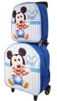 Kit Mochila Escolar Mickey Baby Azul Menino - DB