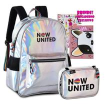 Kit Mochila Escolar Now United Estojo Holográfica Original -