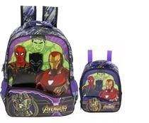 Kit Mochila G Os Vingadores Costas Avengers Xeryus Thanos + Lanch -