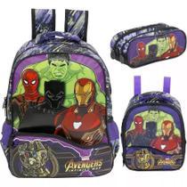 Kit Mochila G Os Vingadores Costas Avengers Xeryus Thanos -