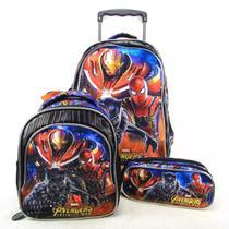Kit Mochila G Rodinhas Os Vingadores Marvel Avengers Xeryus -