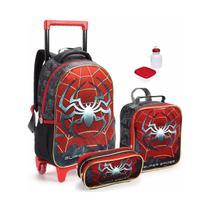 Kit Mochila Infantil Escolar Spider Aranha Tamanho Grande - Seanite