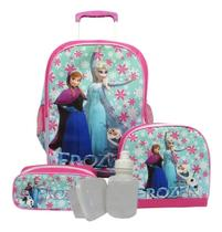 Kit Mochila Infantil Frozen Tam G Feminina Rodinhas - School Bags