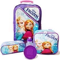 Kit Mochila Infantil Frozen Tam G Rodinhas - School Bags