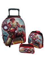 Kit Mochila Infantil Homem De Ferro Iron Man Preto - Outras Marcas