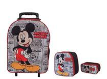 Kit Mochila Infantil Mickey Mouse Jornal Preto - Outras Marcas