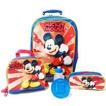 Kit Mochila Infantil Mickey Tam G Rodinhas - School Bags