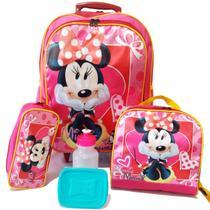 Kit Mochila Infantil Minnie Mouse Tam G - School Bags