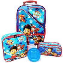 Kit Mochila Infantil Patrulha Canina Tam G Rodinhas - School Bags