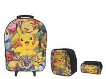 Kit Mochila Infantil Pokémon Preto - Outras Marcas