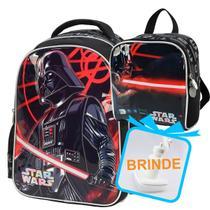 kit mochila infantil star wars menino costas grande ensino fundamental - LUXCEL