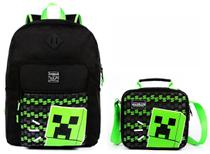 Kit Mochila Jogo Minecraft Costas G Lancheira DMW 11497 -