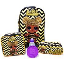 Kit Mochila Lol Surprise Queen Bee Carrinho Amarelo 2019 Tam G - School Bags