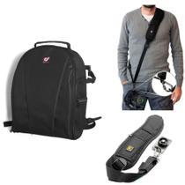 kit Mochila Pop + alça tiracolo p/ 1 Câmera  DSLR e cameras profissionais - Dedcases