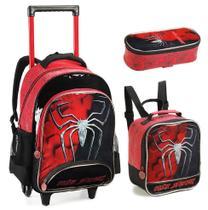Kit Mochila Rodinhas Infantil Masculino Dark Spider 2021 - Denlex