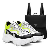 Kit Mochila + Tênis Sneaker Feminino Vicerinne Chunky Macio -
