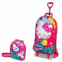 Kit Mochilete 3D + Lancheira Hello Kitty Kids - Diplomata