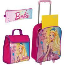 Kit Mochilete Barbie G + Estojo+Lancheira - ROSA - Sestini