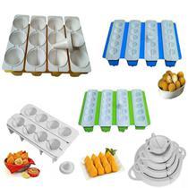 Kit Modelador Formas Bolinha Queijo Pastel Risole + Coxinhas P M G - Tuca Home