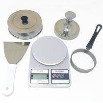 Kit Modeladores de Hambúrguer Ovos Espatula Balança Abafador - Dasshaus