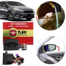 Kit Módulo Conforto Vidro Retrovisor Elétrico Ford Focus 2014 a 2019 Antiesmagamento Tilt Down Tury -