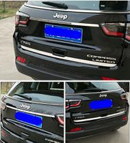 kit Moldura Aplique tampa traseira Inox Cromado Jeep Compass -