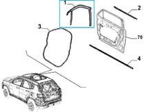 Kit Moldura Coluna da Porta Dian + Tras. Esquerda + Friso da porta Jeep Compass Original -