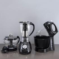 Kit Mondial Especial Gourmet Liquidificador, Batedeira e Espremedor -