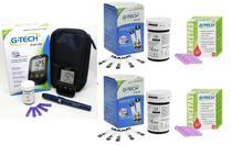 Kit Monitor de Glicemia FREE LITE com 100 Tiras Reagentes + 100 lancetas G-Tech -
